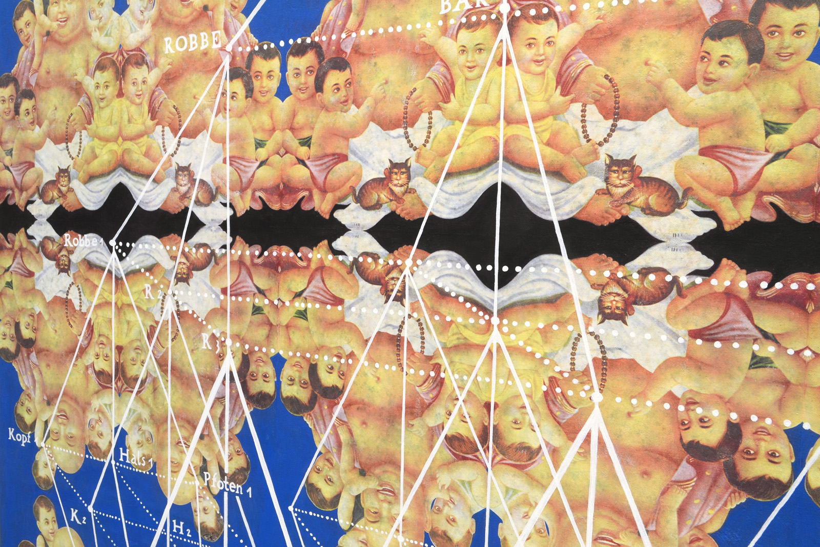 Michel Aniol Welt Idiotikon Berlin Kunst Art Malerei Painting