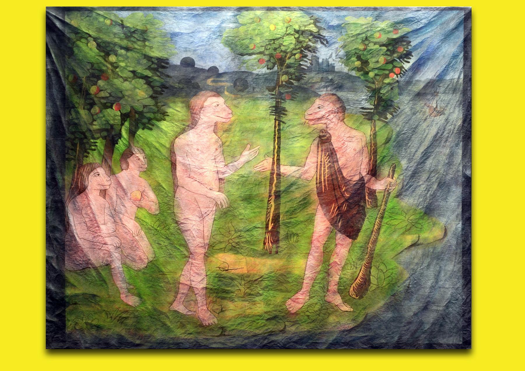 Michel Aniol Welt-Idiotikon Berlin Kunst Art Malerei Painting